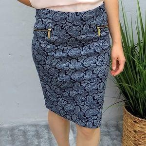 Sale 🎈Michael kors navy blue and white modi skirt